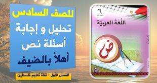 الصف السادس :كراسة مهمة في اللغة العربية الفصل الثاني
